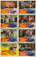"Movie Posters:Adventure, Tarzan's Desert Mystery (RKO, 1943). Lobby Card Set of 8 (11"" X14"").. ... (Total: 8 Items)"