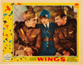 "Movie Posters:War, Wings (Paramount, 1927). Lobby Card (11"" X 14"").. ..."
