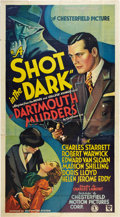 "Movie Posters:Thriller, A Shot in the Dark (Chesterfield, 1935). Three Sheet (41"" X 81"")....."