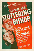 """Movie Posters:Mystery, The Case of the Stuttering Bishop (First National, 1937). One Sheet (27"""" X 41"""").. ..."""