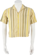 Music Memorabilia:Costumes, Buddy Holly's Yellow and Green Striped Shirt....