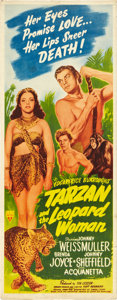 "Movie Posters:Adventure, Tarzan and the Leopard Woman (RKO, 1946). Insert (14"" X 36"").. ..."