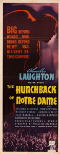"Movie Posters:Horror, The Hunchback of Notre Dame (RKO, 1939). Insert (14"" X 36"").. ..."