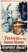 "Movie Posters:Drama, The Treasure of the Sierra Madre (Warner Brothers, 1948). ThreeSheet (41"" X 81"").. ..."
