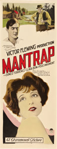 """Movie Posters:Comedy, Mantrap (Paramount, 1926). Insert (14"""" X 36"""").. ..."""