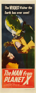 """Movie Posters:Science Fiction, The Man from Planet X (United Artists, 1951). Insert (14"""" X 36"""")....."""
