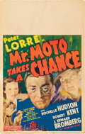 """Movie Posters:Mystery, Mr. Moto Takes a Chance (20th Century Fox, 1938). Window Card (14""""X 22"""").. ..."""