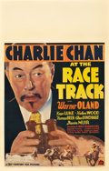 "Movie Posters:Mystery, Charlie Chan at the Race Track (20th Century Fox, 1936). WindowCard (14"" X 22"").. ..."