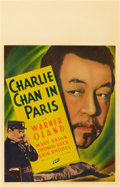 "Movie Posters:Mystery, Charlie Chan in Paris (Fox, 1935). Window Card (14"" X 22"").. ..."