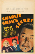 "Movie Posters:Mystery, Charlie Chan's Secret (20th Century Fox, 1936). Window Card (14"" X22"").. ..."
