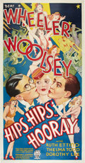"Movie Posters:Comedy, Hips, Hips, Hooray (RKO, 1934). Three Sheet (41"" X 81"").. ..."