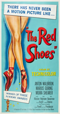 "The Red Shoes (Eagle Lion, 1948). Three Sheet (41"" X 81"")"