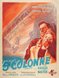"""Movie Posters:Hitchcock, Saboteur (Universal, Late 1940s Post-war Release). French Grande(47"""" X 63"""").. ..."""