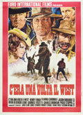 """Movie Posters:Western, Once Upon a Time in the West (Euro International, 1969). Italian 2 - Folio (39"""" X 55"""").. ..."""