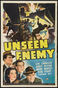 "Unseen Enemy (Universal, 1942). One Sheet (27"" X 41""). Thriller"