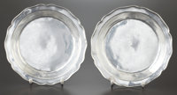 A PAIR OF COLONIAL BRAZILIAN SILVER PLATES Maker unknown, Brazil, circa 1850 Marks: M.Ro., M.I.RIO<