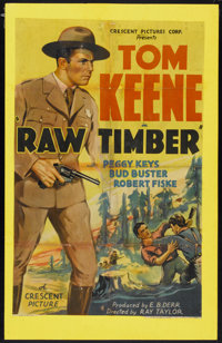 """Raw Timber (Crescent Pictures, 1937). One Sheet (25"""" X 38.5""""). Western"""