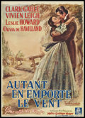 "Movie Posters:Romance, Gone with the Wind (MGM, 1939). Pre-War Belgian (22"" X 30.5"").Romance.. ..."