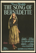 "Movie Posters:Drama, The Song of Bernadette (20th Century Fox, 1943). One Sheet (27"" X41"") Style B. Drama.. ..."