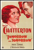 "Movie Posters:Drama, Tomorrow and Tomorrow (Paramount, 1932). One Sheet (27"" X 41"").Drama.. ..."