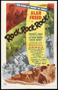 "Movie Posters:Rock and Roll, Rock, Rock, Rock (DCA, 1956). One Sheet (25.5"" X 40""). Rock andRoll.. ..."