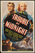 "Movie Posters:Crime, Trouble At Midnight Lot (Universal, 1937). One Sheet (27"" X 41"")and Pressbook (Multiple Pages, 12"" X 18""). Crime.. ... (Total: 2Items)"