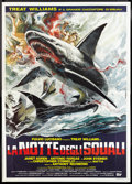 "Movie Posters:Adventure, Night of the Sharks (IIF, 1988). Italian 2 - Foglio (39"" X 55"") andItalian 4 - Foglio (55"" X 78""). Adventure.. ... (Total: 2 Items)"