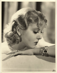 """Ida Lupino in """"Anything Goes"""" by William Walling (Paramount, 1936). Portrait (10"""" X 13"""")"""
