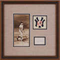 Baseball Collectibles:Photos, Roger Maris Signed Cut Signature Display....