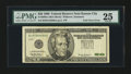 Error Notes:Foldovers, Fr. 2086-J $20 1999 Federal Reserve Note. PMG Very Fine 25.. ...