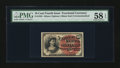 Fractional Currency:Fourth Issue, Fr. 1258 10¢ Fourth Issue PMG Choice About Unc 58 EPQ....