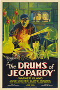 "Movie Posters:Horror, The Drums of Jeopardy (Tiffany, 1931). One Sheet (27"" X 41"").Warner Oland stars in this story of revenge as Dr. Boris Karlo..."