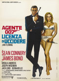"Movie Posters:James Bond, Dr. No (United Artists, R-1972). Italian 2 - Folio (39"" X 55""). IanFleming's legendary creation, James Bond, was first intr..."