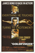 "Movie Posters:James Bond, Goldfinger (United Artists, 1964). One Sheet (27"" X 41""). Sean Connery reprises his role as Ian Fleming's master spy James B..."