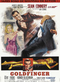 "Movie Posters:James Bond, Goldfinger (United Artists, 1964). French Petite (22"" X 30.5""). Inwhat most consider to be the best of the ""Connery"" Bond f..."