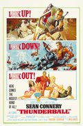 "Movie Posters:James Bond, Thunderball (United Artists, 1965). One Sheet (27"" X 41""). SeanConnery returns as gentleman spy James Bond in this action-p..."