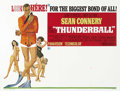 "Movie Posters:James Bond, Thunderball (United Artists, 1965). Subway (41"" X 54""). SeanConnery felt he gave his best performance as James Bond in this..."