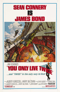 """You Only Live Twice (United Artists, 1967). One Sheet (27"""" X 41"""") Style A. Sean Connery, in what was supposed..."""