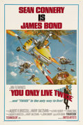 "Movie Posters:James Bond, You Only Live Twice (United Artists, 1967). One Sheet (27"" X 41"").Style B. Sean Connery as James Bond returns to take on th..."