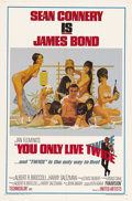 "Movie Posters:James Bond, You Only Live Twice (United Artists, 1967). One Sheet (27"" X 41"") Style C. This was the first Bond film to take great libert..."