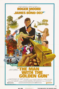 """The Man With the Golden Gun (United Artists, 1974). One Sheet (27"""" X 41"""") Style A. James Bond (Roger Moore) is..."""