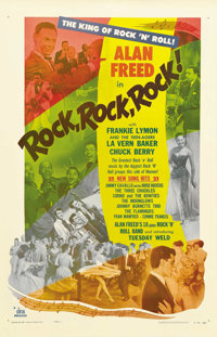 "Rock, Rock, Rock (DCA, 1956). One Sheet (27"" X 41""). The slight plot of this rock 'n' roll extravaganza involv..."