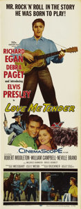 "Movie Posters:Elvis Presley, Love Me Tender (Twentieth Century Fox, 1956). Insert (14"" X 36"").Elvis Presley's film debut was in this stylized Western or..."