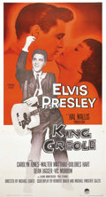 "Movie Posters:Elvis Presley, King Creole (Paramount, 1958). Three Sheet (41"" X 81""). Consideredto be one of the better Elvis movies, this film was direc..."