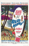 "Movie Posters:Elvis Presley, Blue Hawaii (Paramount, 1961). One Sheet (27"" X 41""). This filmbecame one of Presley's most successful post-Army vehicles, ..."