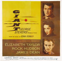 "Giant (Warner Brothers, 1956). Six Sheet (81"" X 81""). George Stevens landmark adaptation of Edna Ferber's nove..."