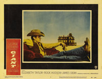 "Giant (Warner Brothers, 1956). Lobby Card (11"" X 14""). James Dean made an indelible impression on cinema as Je..."