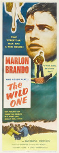 """Movie Posters:Drama, The Wild One (Columbia, 1953). Insert (14"""" X 36""""). Marlon Brando starred in this 1953 film, one of the most influential of t..."""
