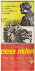 """Movie Posters:Drama, Easy Rider (Columbia, 1969). Australian Three Sheet (40"""" X 80"""").Dennis Hopper directed this independent production on a sho..."""
