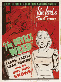"The Devil's Weed (Hallmark, 1949). Poster (30"" X 40"") Style A. In 1948, actress Lila Leeds and actor Robert Mi..."